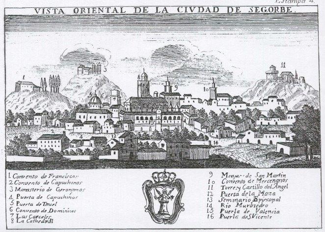 Vista Segorbe. Atlante español. Año 1784